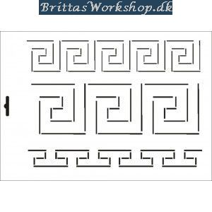 14 Border stencil / skabelon