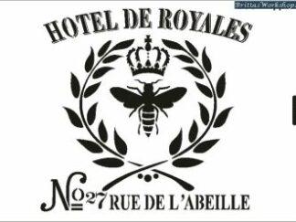 28 Hotel de Royales stencil / skabelon