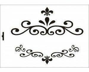 06 Ornamente dobbelt stencil / skabelon