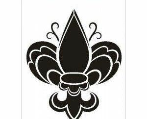 08 Stor Fransk Fleur-de-Lis