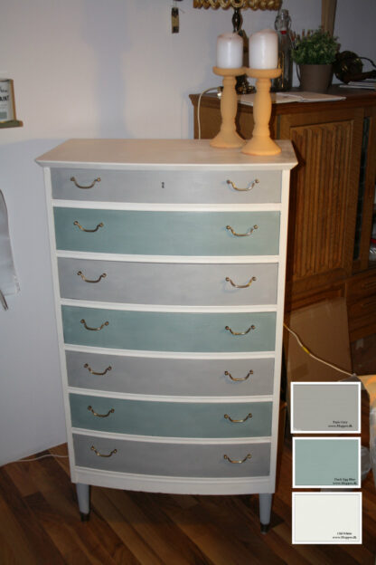 Duck Egg Blue, Paris Grey og Old White fra Chalk Paint AS