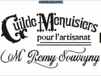 36 Shabby Chic Guilde stencil / skabelon stor