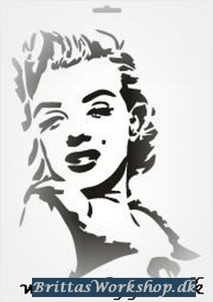 45 Marilyn Monroe stencil / skabelon