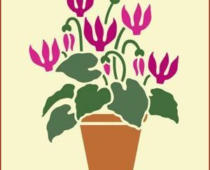 "49 Blomst ""Lilla"" stencil / skabelon"