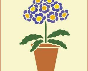 """50 Blomst """"Blå"""" stencil / skabelon"""