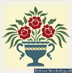 52 Blomster stencil / skabelon