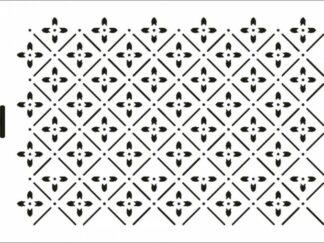 016 Prik Fleur stencil / skabelonfra Brittas Workshop