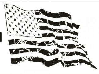 020 Vintage USA stencil / skabelon