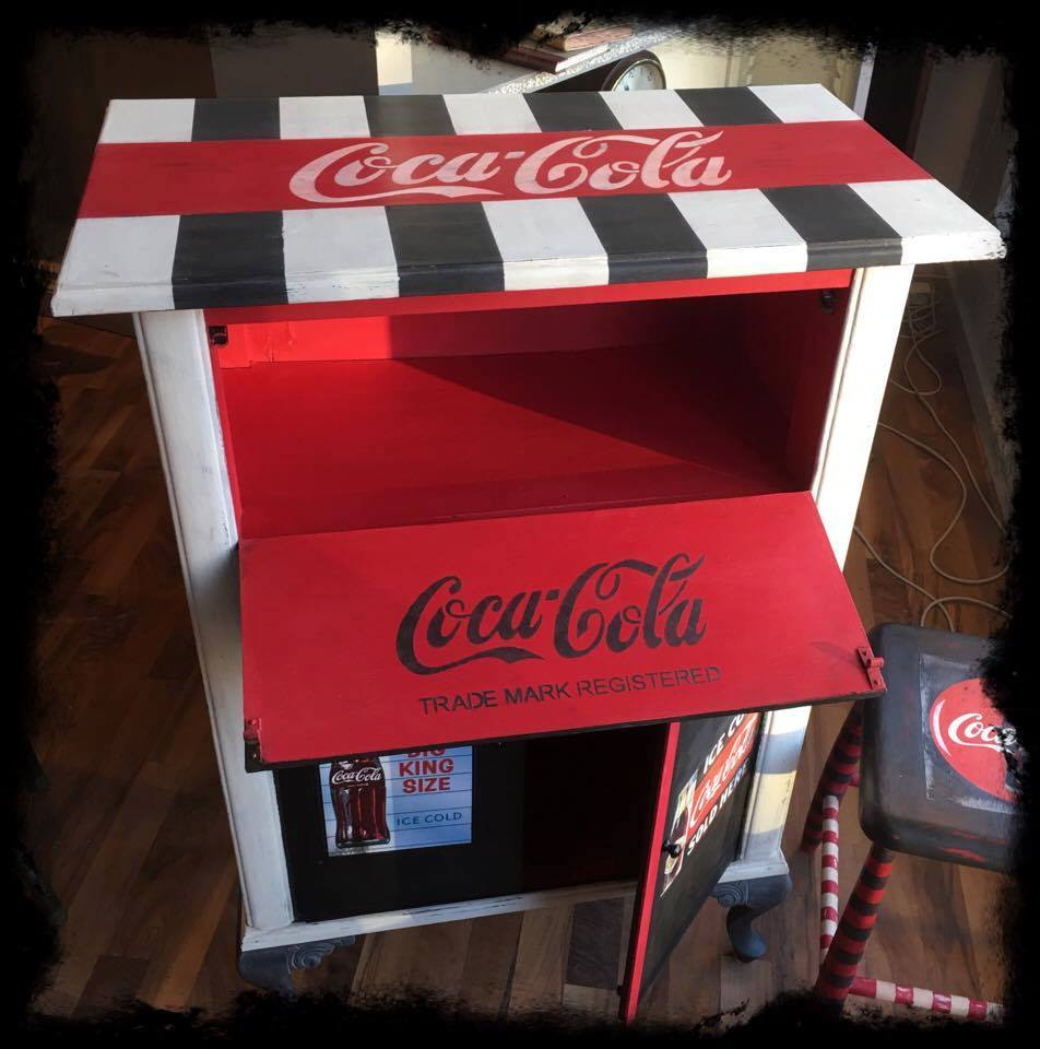 Coca Cola kommode med Annie Sloan Chalk Paint 3