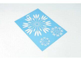 061 Blomster stencil / skabelon