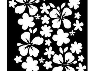 064 blomster ranker stencil / skabelon