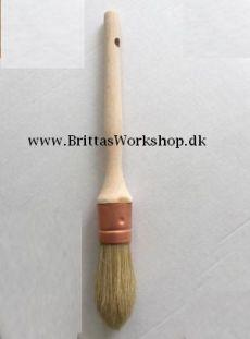 Rund Kvalitets pensel med naturhår 25mm