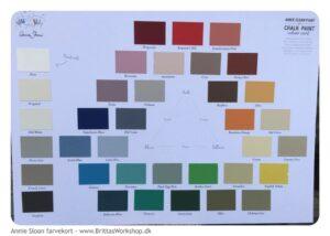 Kalkmaling fra Annie Sloan farvekort