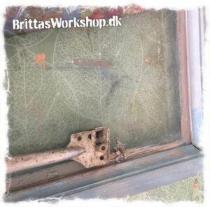 Fjern voks fra glas, når du maler med kalkmaling