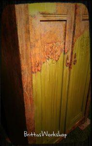 Kalkmaling fra Annie sloan chalk paint og rusteffekt