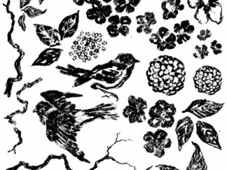IOD - Decor Stamp Birds Branches Blossoms